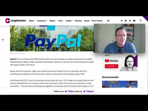 PayPal To Support Cryptocurrency
