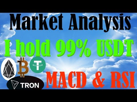 BTC EOS TRX Market Analysis 5-28 – Tether/TUSD are important! – Simplified MACD & RSI