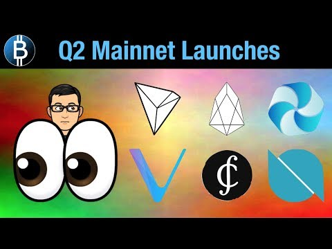 😲👋Upcoming Mainnet Launches – $TRX, $EOS, $VEN – Part 1 of 2 – ($ONT, $CS, $HPB Next)