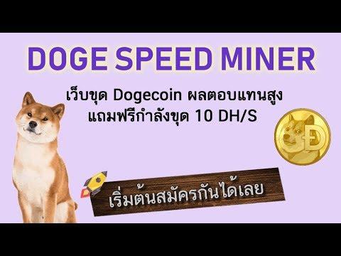 รีวิว พร้อมสอนการสมัครและใช้งาน Doge speed miner อธิบายละเอียดมือใหม่ก็เข้าใจได้