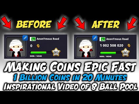 OMG || One Billion Coins in Just 20 Minutes || Inspirational Video of 8 Ball Pool – HD