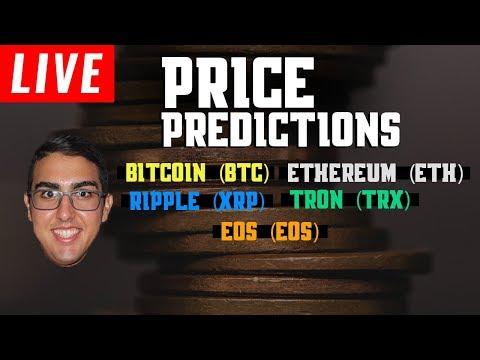 Price Predictions: Bitcoin (BTC), Ethereum (ETH), EOS, Tron (TRX), & Ripple (XRP)!