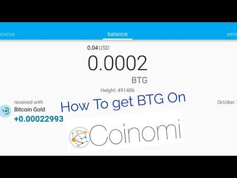 How To Get Bitcoin Gold on Coinomi Wallet (BTG tutorial)