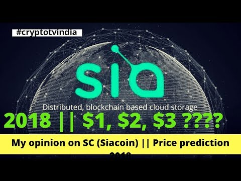 My opinion on SC (Siacoin)  || SC (Siacoin) Price prediction 2018 || By: Crypto TV India
