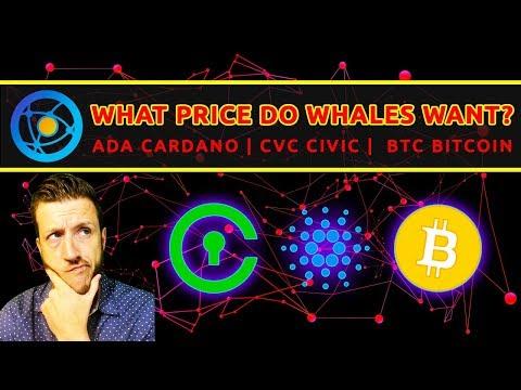 What Price Do BTC Whales Want? | Cardano (ADA) | Civic (CVC) | Golem (GNT) TA