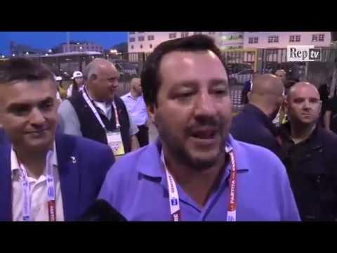 """Matteo Salvini commenta proposta Di Maio """"Valutiamo quanto spostare Savona sia utile agli italiani""""."""