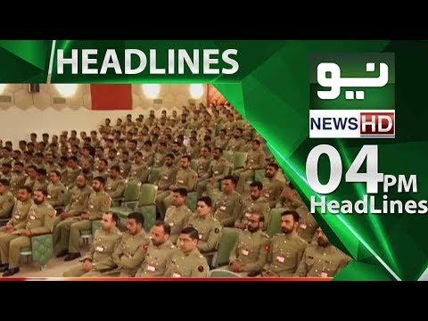 News Headlines, 04:00PM   Neo News   31 May 2018