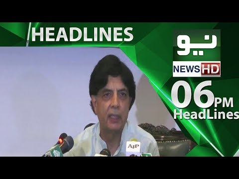 News Headlines | 06:00 PM – 31 May 2018 | Neo News HD