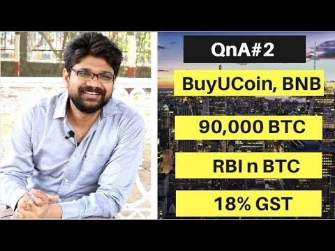 QnA #2:: LOCAL BITCOINS, BUYUCOIN, BINANCE COIN, RBI, POST BAN | 90,000 Bitcoins | Gaurav Bansal
