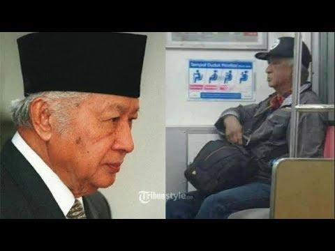 Heboh, Ada Pria Mirip Soeharto di KRL