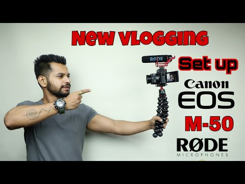 New Vlogging Setup! | Canon EOS M50 unboxing | rode microphone | hindi..
