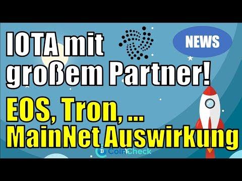 IOTA kooperiert mit dieser sehr großen Bank! Tron, EOS, … mit Mainnet Launch! Krypto News