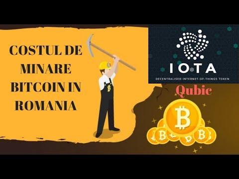 COSTUL DE MINARE BITCOIN IN ROMANIA-IOTA-QUBIC-GRAFICE-STIRI