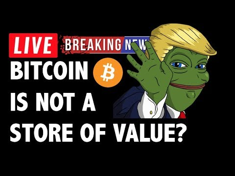 CRYPTO: IS BITCOIN STORE OF VALUE? CRYPTOCURRENCY,LITECOIN,ETHEREUM,XRP RIPPLE,TRON TRX,EOS,BTC NEWS