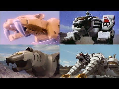 Power Rangers summon the Tiger Zords | Mighty Morphin – Megaforce | Superheroes Tigers | Neo-Saban