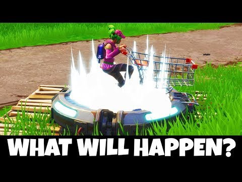 WHAT HAPPENS IF A SHOPPING CART LANDS ON A LAUNCH PAD!? (MUST SEE) – Fortnite Mythbusters