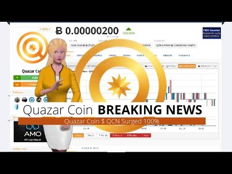 Quazar Coin $QCN Climbed 100% During the Last 24 Hours