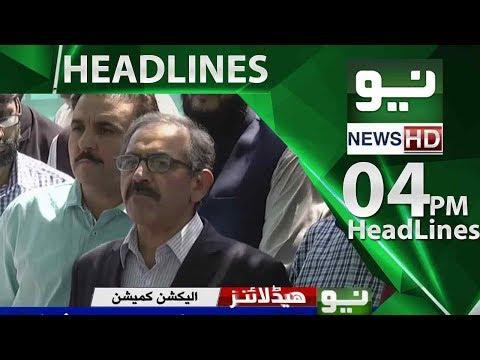News Headlines – 04:00 PM | 02 June 2018 | Neo News
