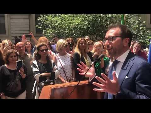 IL NEO MINISTRO ALFONSO BONAFEDE INCONTRA I DIPENDENTI DEL MINISTERO DELLA GIUSTIZIA