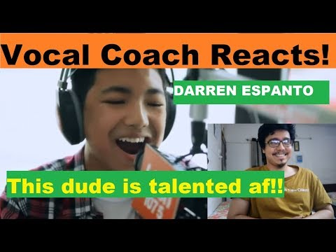 Vocal Coach REACTS to DARREN ESPANTO – Chandelier (Sia) LIVE Cover on Wish FM 107.5 Bus