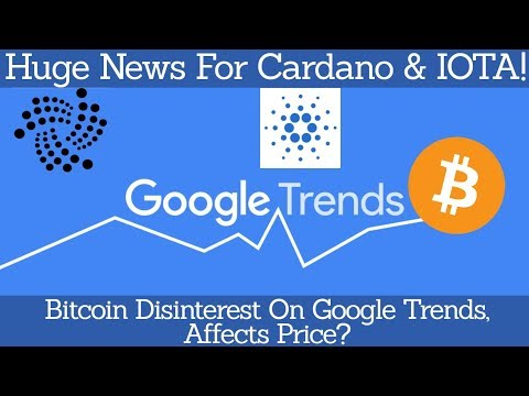 Crypto News | Huge News For Cardano & IOTA! Bitcoin Disinterest On Google Trends, Affects Price?