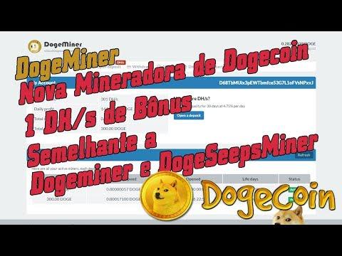 DogeMiner / Nova Mineradora de Dogecoin / 0 Dias Online/1 DH/s de Bônus /Semelhante a DogeSpeedMiner
