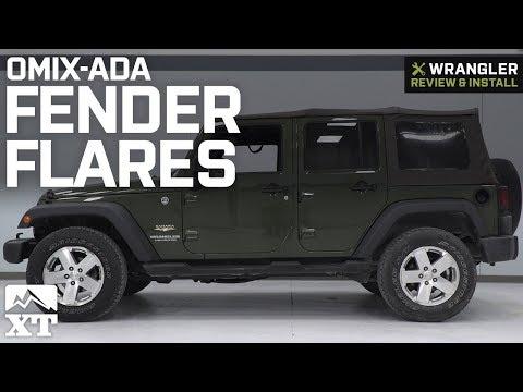 Jeep Wrangler Omix-ADA Fender Flares (2007-2018 JK) Review & Install