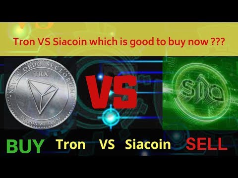 Trx (Tron)  VS Sc (Siacoin) || What is good to buy now Tron or Siacoin?? || By: Crypto Tv India