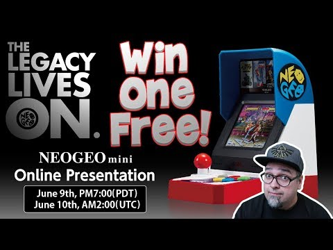 SNK Neo Geo Mini News! Win One For Free & Online Presentation!