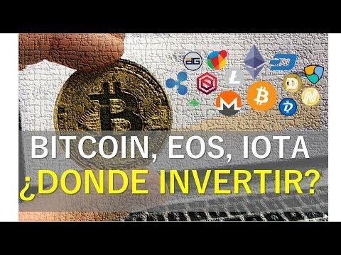 Bitcoin, IOTA, EOS … ¿dónde invertir?