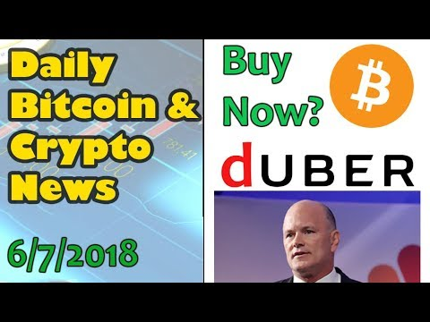 Time to Buy Bitcoin? – What is Duber? [Daily Bitcoin and Cryptocurrency News 6/7/2018]