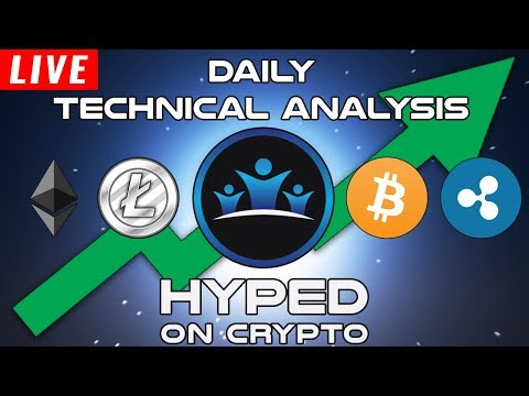 Daily LIVE Cryptocurrency Technical Analysis – Bitcoin / Ethereum / Ripple & More!