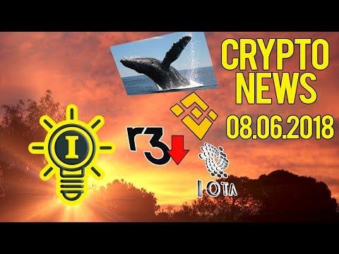 CRYPTONEWS 08.06 – BALEIA ASIÁTICA | R3 SEM GRANA | BINANCE DEX? | IOTA NA BITPANDA | ADBANK
