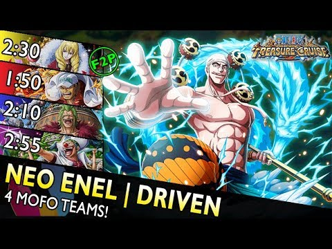 [OPTC] Neo Enel Raid | Driven Only – 4 Teams (F2P, Akainu, 6+ Bartolomeo, Buggy)
