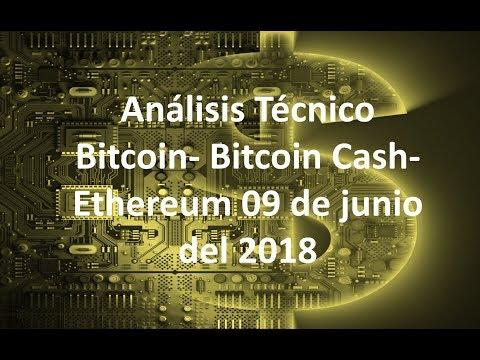 Análisis bitcoin/btc cash/ethreum 09 de junio – ¿¿Sube o baja el mercado de las criptomonedas??