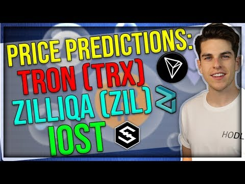 Price Predicitons: Tron (TRX), Zilliqa (ZIL), IOST – China Government Set On Blockchain Technology?