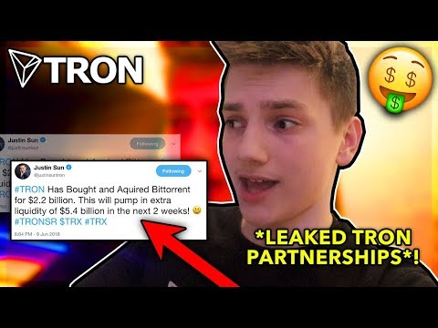 I Just Bought 102,769 TRON (TRX) and You Should Too! *LEAKED PROOF* HUGE New Tron $TRX Partnerships!