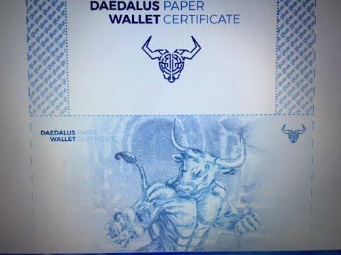 【セキュリティー】ダイダロスのペーパーウォレットにカルダノ(ADA)を送金してみた♪【万全!!】