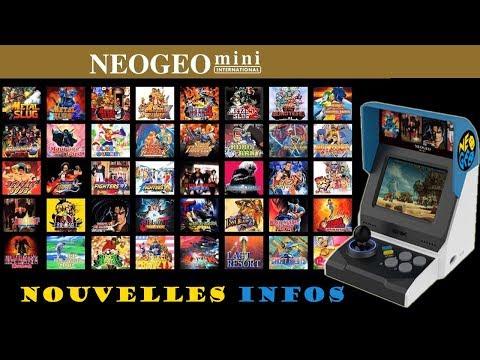 Mini neo geo de nouvelles infos et la liste des jeux