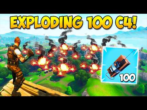 EXPLODING 100 C4! – What Happens? – Fortnite Funny Fails and WTF Moments! #222 (Daily Moments)