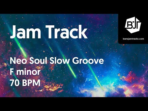 Neo Soul Slow Groove Jam Track in F minor 70 BPM