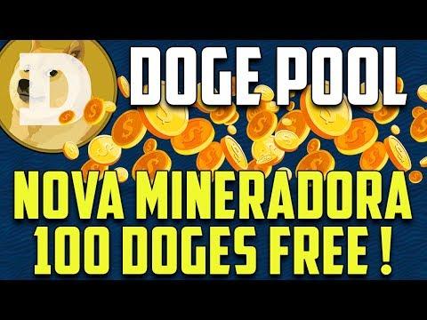 SAIU ! Nova Mineradora Dogecoin / Dogepool Online + 100 Doge GRÁTIS no cadastro !