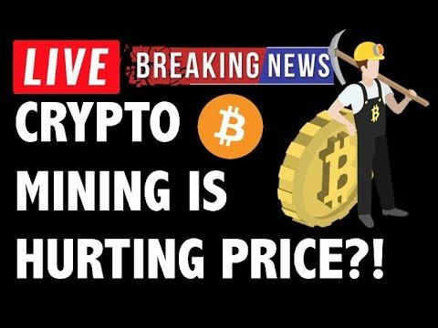 BITCOIN & CRYPTO MINING HURTING BTC PRICE?! CRYPTOCURRENCY ANALYSIS & NEWS