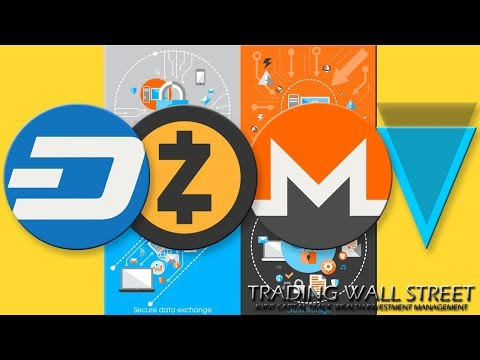 #DASH #ZCASH #MONERO #VERGE #CRYPTOTRADING MARDI 12 JUIN 2018 #PRIVACY COINS