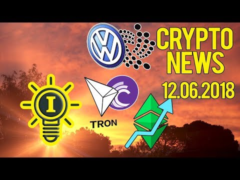 CRYPTONEWS 12.06 – PUMP ETC E CROWN | WOLKS E IOTA | TEZOS FORK | TRON + BIT TORRENT??