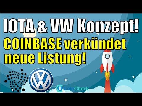 IOTA & VW mit Proof of Concept! Neue Coinbase Listung und Binance Neuigkeiten, Bitcoin ruhig|Krypto