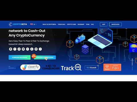 CryptoRiya – Decentralized Network To Cash-Out Any CryptoCurrency