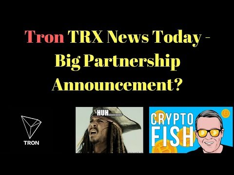 Tron TRX News Today – Big Partnership Announcement