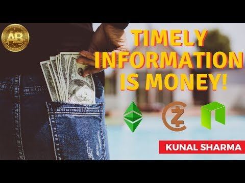 Timely Information is Money! Ethereum Classic ETC, ZClassic, NEO