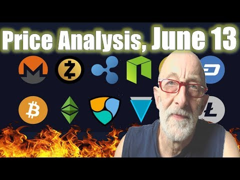 Bitcoin, Ethereum, Ripple, Bitcoin Cash, EOS, Litecoin, Cardano, IOTA Price Analysis, June 13